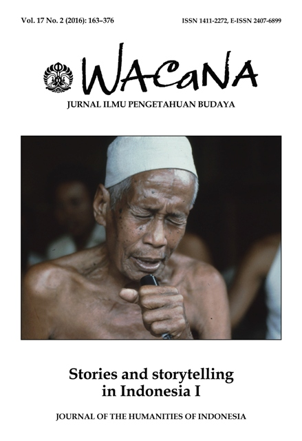 Wacana Vol.17 No.2, Stories and storytelling in Indonesia